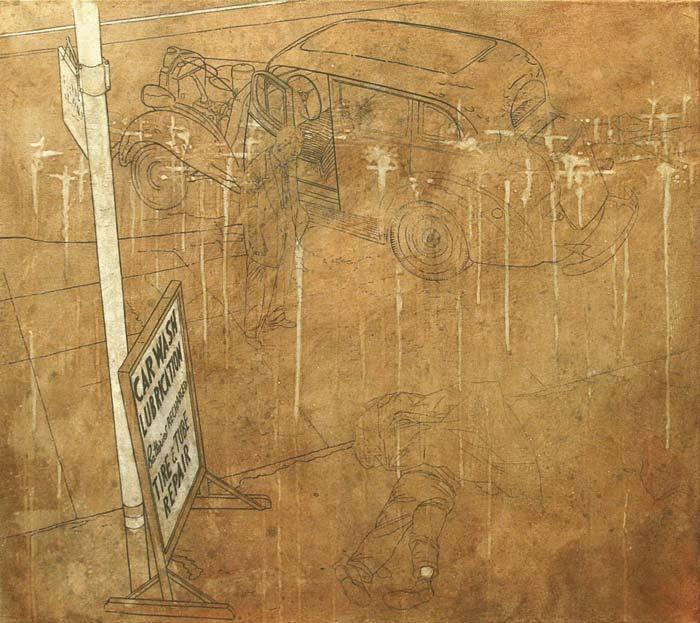 Proceso pintura realista Juanjo Lazcano
